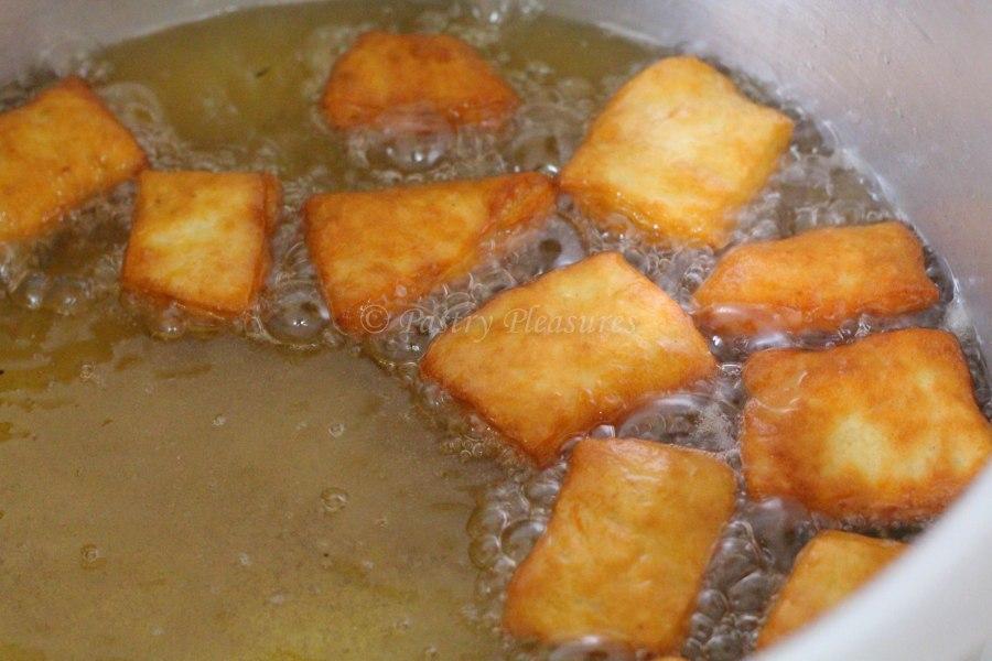 Orange flavoured mandazis
